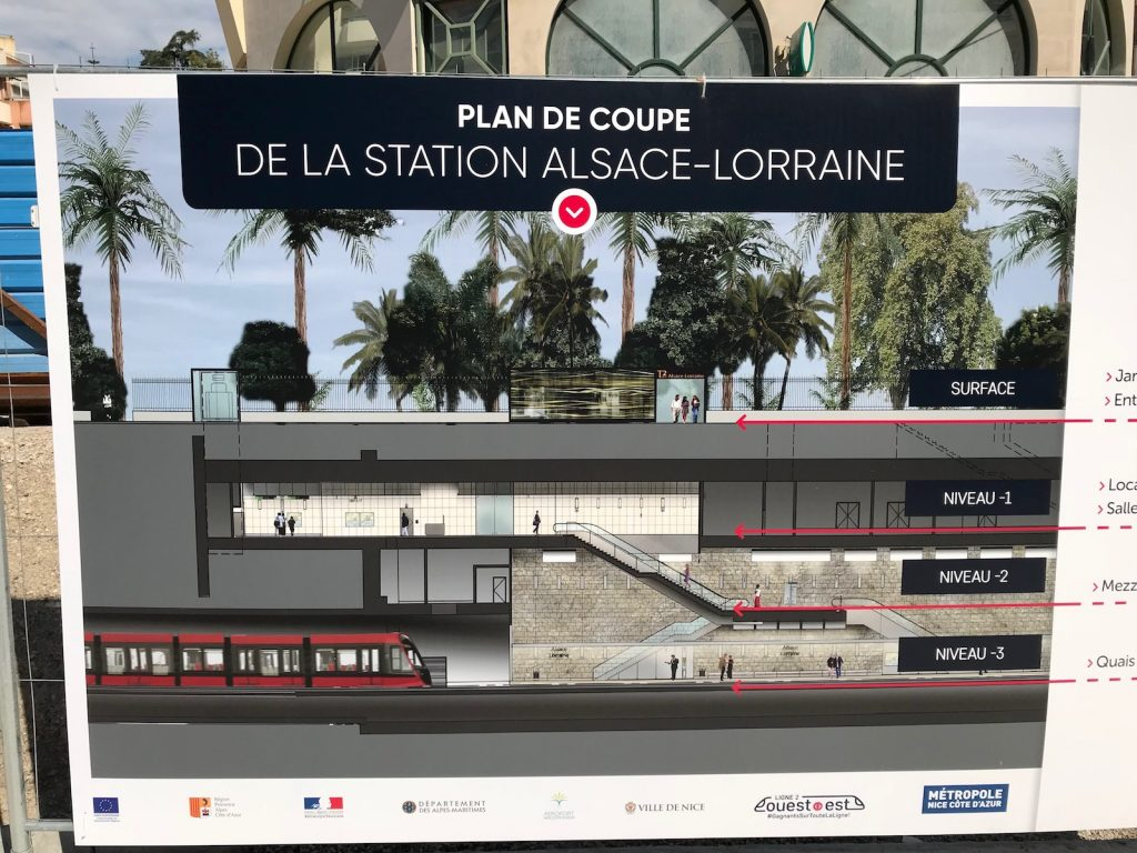 station alsace-lorraine tramway de nice